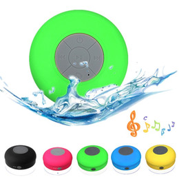 Wholesale iphone music speakers - Portable Subwoofer Shower Waterproof Wireless Bluetooth Speaker Car Handsfree Receive Call Music Suction Phone Mic For iPhone