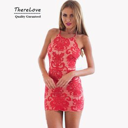 Wholesale Halter Neck Mini Dress - Hight quality halter neck summer sexy short lace dress plus size backless scalloped elegant bodycon dress for party wedding club