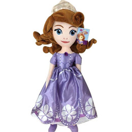 Wholesale Princess Baby Stuff - 70CM Princess Plush Kid Toys 35cm Sofia The First Princess Soft Stuffed Baby Doll Christmas Gift For Kids TOY124