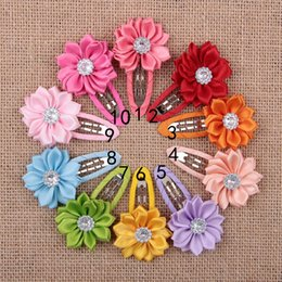 Wholesale Infant Flower Hair Clips - Newest Children Hair Accessories Flower Solid BB Clip Hair Clip Baby Hair Band Infant Bobby Pin Girl Hairpin headwear