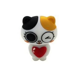 Wholesale Cat Usb Flash - 2015 new design Creative cute cat USB stick 16GB 32GB 64GB USB 2.0 Flash drive USB sticks pendrives