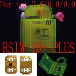 Wholesale Iphone S Unlocked - R-SIM 10+ R SIM 10plus RSIM 10+ Rsim10+ Unlock Card for iphone 6s 6 5S 5 4S ios9 9.X 3G 4G CDMA Sprint, AU, Softbank s direct use no Rpatch