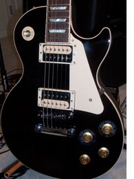 Wholesale Ebony Hollow - New Beautiful hot sell STANDARD TRADITIONAL PRO 2010, EBONY electric guitar in stock