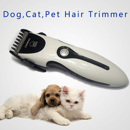 Wholesale Low Noise Cat Hair Clipper - Hot Adjustable Dog Cat Pet Hair Grooming Trimmer Electric Adjustable Razor Clipper Low Noise Rechargeable Hair Beauty Clipper free shipping