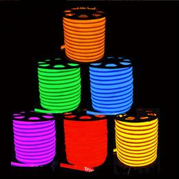 Tubo flexible de luces led online-Envío libre 20m / lote 80led / M 110V 220V impermeable al aire libre cuerda / luces / tira de neón flexible / Led tubos de neón