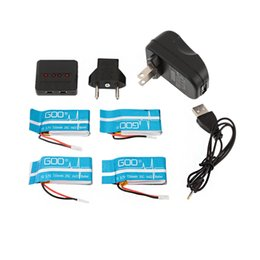 Wholesale fly port - Brand Super Fly 4-port Fast Charger Sets with 500mAh Lipo Battery 3.7V for RC Helicopter WLtoys V931 F949 Parts order<$18no track
