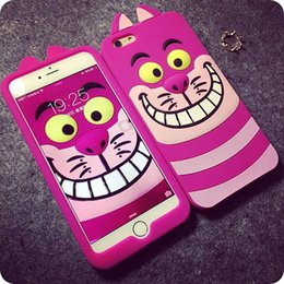 Wholesale Galaxy S3 Tiger - 3D Cartoon Tiger Animal Monsters Sulley Alice cat Silicone Case Cover For Samsung galaxy S3 S4 S5 S6 Note 3 Note 4 LOGO