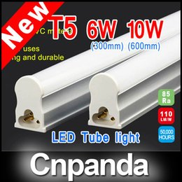 Wholesale T5 Bulb Warm - 1ft 2ft 3ft 4ft T5 Integrated Led Tube Lights SMD 2835 LED Fluorescent Bulbs Warm Cool White CE RoHS FCC