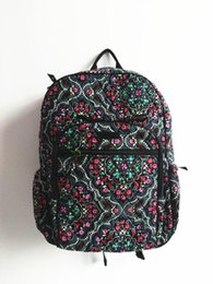 Wholesale Green Cotton Tote Bag - Cotton Cartoon Campus Backpack Student School Backpack 100% Real
