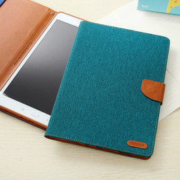 Wholesale Ipad Mercury - Original Mercury Canvas leather skin For Sumsung Galaxy Tab A T550 T350 9.7 8.0 inch Flip Tablet Book Style Stand Cases
