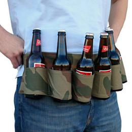 cinto de cerveja por atacado Desconto Atacado-Outdoor Escalada Camping Caminhadas Holster Garrafa Portátil Cintura Cinto De Cerveja Saco Handy Garrafas De Vinho Bebida Pode 6 Pacote Titular W2