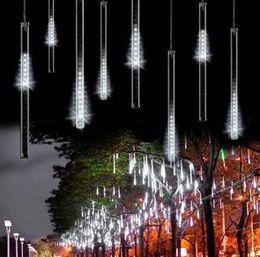 Wholesale Decorative Led Tube Lighting - 50CM Holiday Light Meteor Shower Rain Tubes LED Light For Christmas Wedding Garden Decorative Lamp 100-240V US White