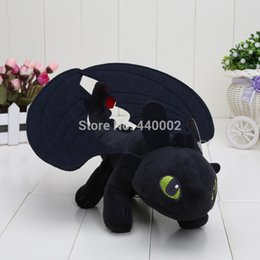 Wholesale Wholesale Children Stuffs - 10PCS LOT 9'' 20CM Anime How to Train Your Dragon Toothless Night Fury Plush Doll Stuffed Toy Christmas Gifts For Children