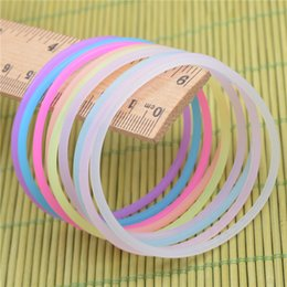 Wholesale Colorful Bracelets For Men - 2017 free shipping fashionable jewelry bracelets new design colorful silicone material glow lighting bracelets for men and women