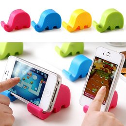 Wholesale Elephant Phone Stand - Lovely Elephant Stand Multifunctional Mobile Phone Lazy Supporter Creative Phone fixed Seat PC Holder Free Shipping