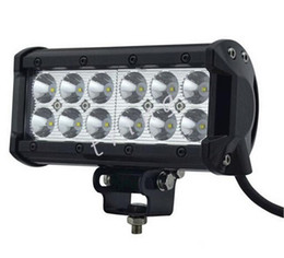 Wholesale Led Fog Lights Motorcycle Cree - Work Light Bar 7inch 36W Cree LED working Lights 4WD 4x4 12v 24v Truck Tractor Boat Off-Road SUV ATV Driving Motorcycle Fog Lamp