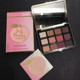 Новые релизы макияжа онлайн-в наличии 12 шт. новый выпущен просто персиковый матовая палитра теней для век 12 цветов теней для век макияж DHL доставка