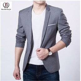 Wholesale Blazers Jackets For Men - Wholesale-Stylish quality men Blazer Coat Jackets men Brand Garment Casaco Terno Masculino Suit Cardigan Jaqueta Wedding Suits for Men