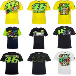 Wholesale Jersey Tops For Women - Free shipping 2017 T-Shirt for VR 46 VALENTINO ROSSI 2017 M1 Moto GP the doctor MAGLA camiseta moto racing jersey shirt