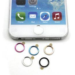 Круглые переводные картинки онлайн-Wholesale-Attrctive Colors Metal Aluminum Home Button Keypad Circle Sticker Decals for  6 4.7'' Plus 5Pcs/lot With Retail Box