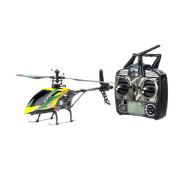 Wholesale Rc Radio System Transmitter - 100% Original Wltoys V912 Large 4CH Single Blade RC Helicopter 2.4GHZ Radio System RC Plane with Mode 2 Transmitter