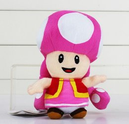Wholesale Mario Plush Toadette - Super Mario Bros toadette Mushroom Girl Plush Toy 17cm New Brand High Quality Doll