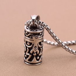 Wholesale Cremation Urn Keepsake - wholesale price openable 316L Stainless Steel Memorial Cremation Vintage Tube Jewerly Ashes Urn Pendant Locket Necklace Keepsake Jewelry urn