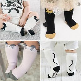 Wholesale Kids Knee Socks - 2016 Spring Autumn New Design Baby Socks Cartoon Mouse Cotton Knee Length Socks For Kids 15085