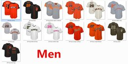 Wholesale Giant Xxl - Mens Giants 28 Buster Posey Baseball Jersey Gray Cream Orange Black Green Salute Players Weekend Fathers Day Team Logo Cooperstown All Star