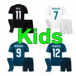 Wholesale Real Children - 17 18 Real Madrid kids soccer jersey kits child jerseys kits 2017 RONALDO Asensio SERGIO RAMOS MODRIC MARCELO BALE ISCO football shirts