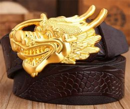 Wholesale Types Belts Men - New type belt high quality brand designer belts luxury belts for men copper dragon buckle belt men and women waist genuine leather belts
