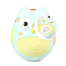 Wholesale Toy Moving Animal Doll - Wholesale- Cute Baby Toys Nodding Moving Eyes Owl Doll Baby Rattles Gifts Baby Tumbler Toy With Bell Toys For Children