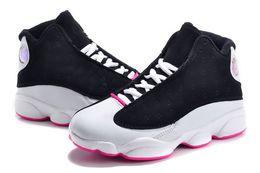 2019 недорогие детские туфли на высоком каблуке Модные детские кроссовки 13 баскетбольные кроссовки 2018 для мальчиков девочек черный красный белый черный розовый дешевые XIII продажа высокого качества США 11C-3Y скидка недорогие детские туфли на высоком каблуке