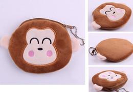 Wholesale Monkey Cute Case - Wholesale- Plush Cotton 10*10CM Cute Monkey - Hand Coin Purse Wallet Pouch Case BAG ; Women Lady Bags Pouch Makeup Case Holder BAG Handbag