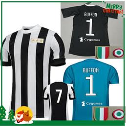 Wholesale Football Jersey Italy - 120TH ANNIVERSARY Soccer Jersey Goalkeeper Gianluigi Buffon Black Goalie Dybala Italy MAGLIA Calcio HIGUAIN Italia 17 18 Football Shirts