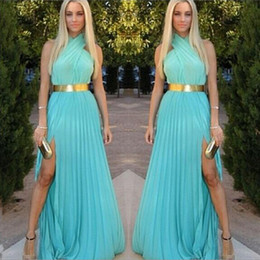 Wholesale Cheap Cross Clothing - New Summer Dress 2016 Women Clothing Fashion Criss-Cross Maxi Casual Dress Women Solid Party Dresses Cheap Sexy Long Dress Clubwear