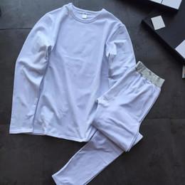 Wholesale Thermals Suits - Box Packing Men Brand Thermal Underwear 2pcs Suit 2017 Winter High Quality Men Slim Warm fleece homewear Sets 1106X05