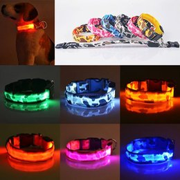 Wholesale waterproof led dog lights - 2015 New Pets Dog LED Lights Leopard Flash Night Safety Waterproof Collar Adjustable