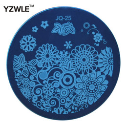 Wholesale Pcs Images - Wholesale- 1 PC Optional JQ Series (75 Styles Available) DIY Nail Art Lace Flower Stencils Stamping Template Printing Image Plates (JQ-25)