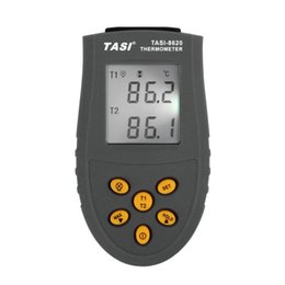 Wholesale K Type Digital Thermometer - TASI-8620 Portable K TYPE Thermocouple Probe Dual Channel Thermometers Digital Thermometer Temperature Measurement -50 ~1350 C