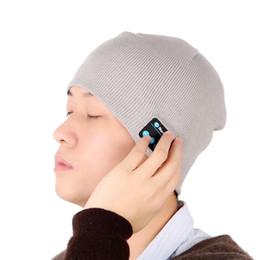 Wholesale smart casual men winter - New Smart Hat Bluetooth handfree Knitted Beanie Warm Soft Music Hat Buit In Speaker Headphone Microphone