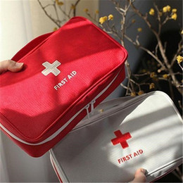 Wholesale portable office case - New Creative Portable Empty First Aid Bag Kit Pouch Home Office Medical Emergency Travel Rescue Case Bag Medical Package Top Quality