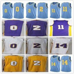 Wholesale Ball Stops - 2018 New MPLS 2 Lonzo Ball 0 Kyle Kuzma 11 Brook Lopez 14 Brandon Ingram Basketball Jerseys UCLA Bruins Lonzo Ball College Basketball Shirts