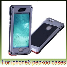 "Wholesale Heavy Duty Aluminum Iphone Cases - Pepkoo Military Heavy Duty Hard Aluminum Alloy Metal Protective Case with for Apple iPhone6 6G 4.7"" iphone 6 plus 5.5"""