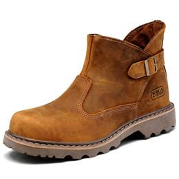 Tamaño de EE. UU. Hight Quality Mens cuero genuino Silp en botines militares hebilla correa Oxford Chukkas zapatos de trabajo de invierno desde fabricantes