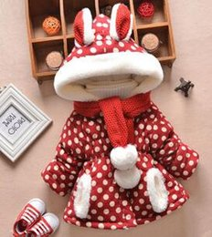 Wholesale Baby Thickening Wadded Jacket Outerwear - 2 pcs baby Clothing and scarf baby winter outerwear thickening baby girl jackets wadded hooded trench baby cotton clothesack