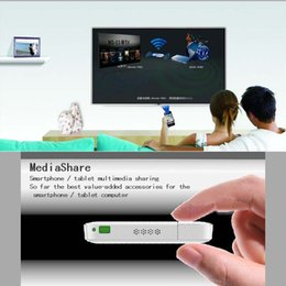 Wholesale Dlna Hdmi Media Sharing - Freeshipping -The copy of chromecast 720P ipush wifi dongle DLNA Media Sharing HDMI USB ipush Wireless for IOS Smart Android TV BOX Streamer
