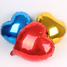"Wholesale Hot Balloon Heart - 18"" Foil Balloons Love Heart Shape Balloon Propose Balloon Wedding Valentine's Day Decorative Balloon Random Colour 100pcs lot Shipping"