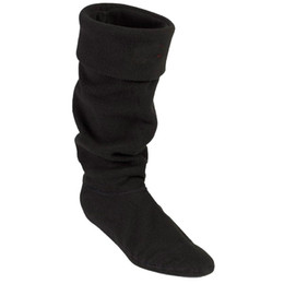 Wholesale Tall Fleece Socks - Wholesale-2015 Top Brand High Knitted Chunky Cable Cuff Fleece Welly Socks, M L size Socks For Tall Original Rain Boots,Free Shipping!