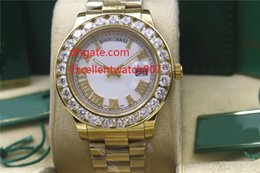 Wholesale Diamond Factory Supplier Watch - 3 Colour Factory Supplier luxury watch brand Day-Date face diamond watch men automatic AAA sapphire 18K Mechanical men's watch hot sale